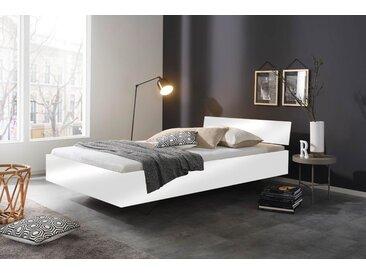 Bett in weiß Hochglanz, Liegefläche 120 x 200 cm