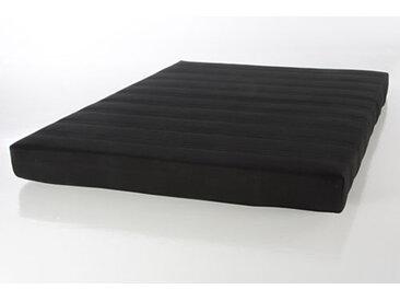Federkernmatratze, Maße 140 x 200 cm, Härtegrad 2, gerollt verpackt, Bezug in Schwarz