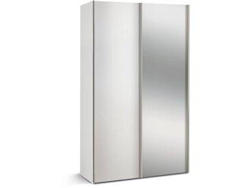 Mehrzweckschrank 2-trg. in weiß mit Spiegel, mit 2 Einlegeböden, Maße: B/H/T ca. 125/216/48 cm