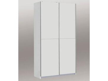 2-trg. Mehrzweckschrank in weiß matt, mit 6 Einlegeböden, Maße: B/H/T ca. 120/190,5/42 cm