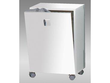 Rolli in weiß, mit 1 Tür und 1 Wäschekorb, Maße: B/H/T ca. 40,3/54,5/32 cm