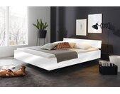 Bett in weiß Hochglanz, Liegefläche 160 x 200 cm