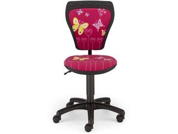 Kinderdrehstuhl mit Rollen,Sitz höhenverstellbar durch Gaslift, Rückenlehne und Sitztiefe manuell einstellbar, Maße: B/H/T ca. 40,5/79-97,5/43-47 cm