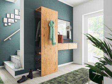 Garderobe Terra 3 tlg Paneel Softclose Konsole Spiegel 6 Paar Oak