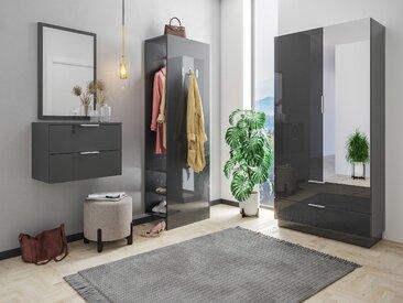 Garderobe Omnis 4 tlg Flurschrank Paneel Spiegel Konsole 36 Paar Grafit Hgl