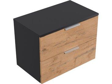 Hängeschrank Urban Slimline Konsole 2 Schubladen Softclose Oak