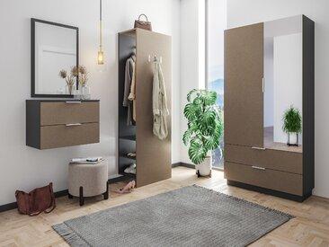 Garderobe Omnis 4 tlg Flurschrank Paneel Spiegel Konsole 36 Paar Sand