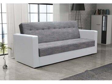 Expedo Sofa MACA, 85x216x190, Kornet 02/Dolaro 511 weiß