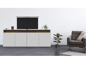TV Lift Highboard - Weiß - Elektrisch Ausfahrbar bis 55 Zoll