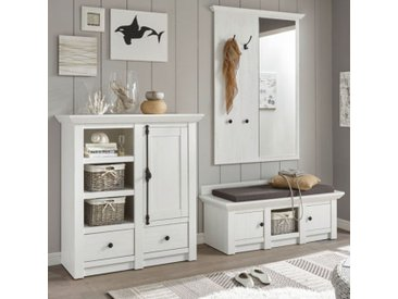 Garderobe Hooge in Pinie weiß Set 3-tlg. 239 x 206 cm
