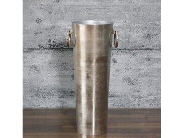 Bodenvase SHANI, 83cm groß Aluminium silber Dekovase Antik-Finish
