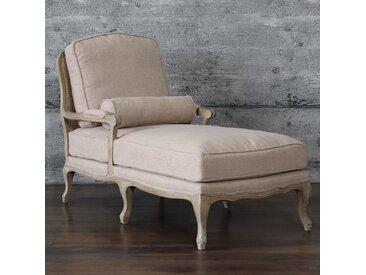 Chaiselongue MONNE, antik französischer Stil Liegesessel Schnitzerei