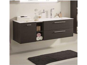 Laguna Trento Waschtischunterschrank 3 Auszüge und 1 Regal 150 cm mit Waschtisch Becken rechts