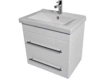 KWIQQ Waschtischunterschrank mit Waschtisch 65 x 45 cm