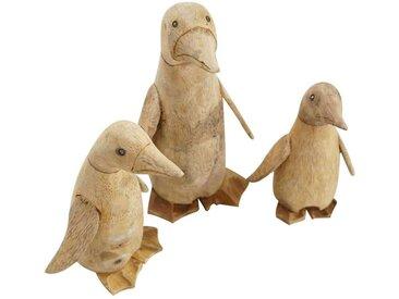 PLOß, Deko-Set Pinguine  natur Bambus Zertifikat: SVLK