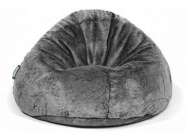 Global Bedding Sitzsack Bag 500 mit Bezug Fur in black