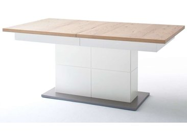 MCA, Säulenesstisch Nizza  Tischplatte:  Crackeiche furniert Säule: weiß lackiert Tischplatte:  Crac