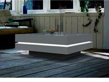 Couchtisch LED Lyess - Weiß
