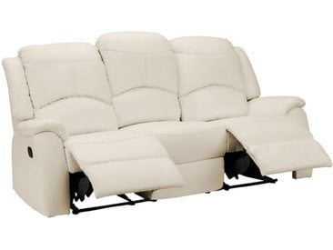 Relaxsofa 3-Sitzer ESTHER - Elfenbeinfarben