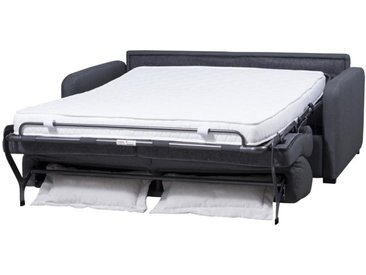 Schlafsofa mit Matratze 3-Sitzer TOMAKA - Stoff - Anthrazit