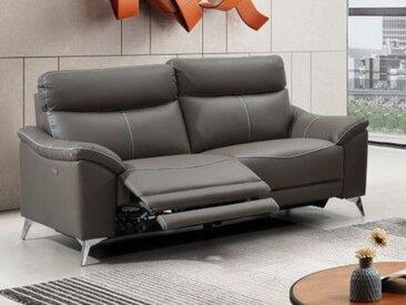 Relaxsofa elektrisch 3-Sitzer METRONOMY - Leder - Taupe