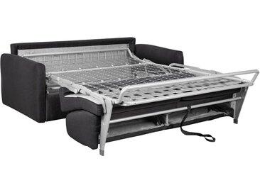 Schlafsofa 4-Sitzer CALIFE II - Stoff - Anthrazit - Liegefläche: 160 cm - Matratzenhöhe: 22 cm