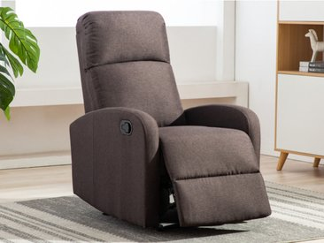 Relaxsessel Fernsehsessel ISAO - Stoff - Braun