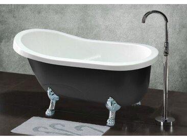 Freistehende Badewanne Egee II - 171 L - Schwarz/Silber