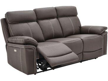 Relaxsofa elektrisch 3-Sitzer ISIRIS - Leder - Braun