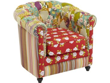 Chesterfield Sessel Patchwork Spania