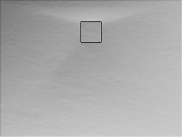 Schulte Duschwanne, Mineralguss, flach, grau, rechteckig, 100 x 80 x 4 cm