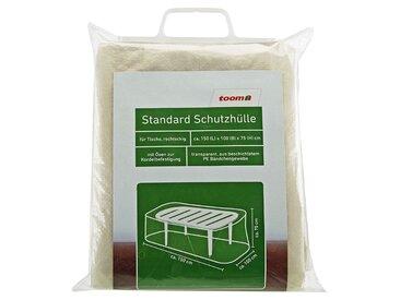 toom Standard Schutzhülle für Tische PE-Bändchengewebe transparent 150 x 100 x 75 cm