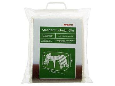 toom Standard Schutzhülle für Möbelgruppe PE-Bändchengewebe transparent Ø 180 x 95 cm