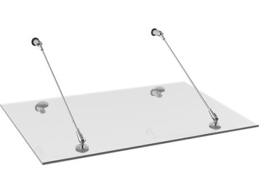 Schulte Pultvordach 'Davita 2.0' Edelstahl 180 x 90,7 cm