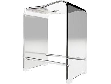 Schulte Duschsitz, Acrylglas, weiß, 39,3 x 27,5 x 47 cm, bis 130 kg