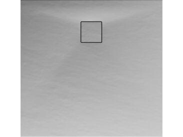 Schulte Duschwanne, Mineralguss, flach, grau, quadratisch, 100 x 100 x 4 cm