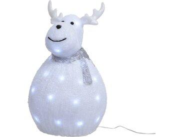 Lumineo LED-Acrylfigur Rentier kaltweiß 24 x 37 cm