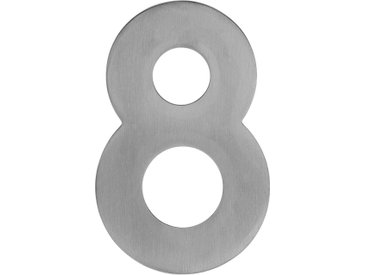 Metafranc Hausnummer '8' 12 cm, silbern