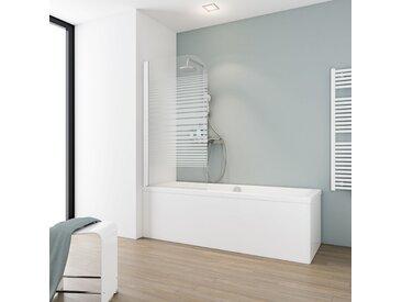 Schulte Badewannenfaltwand 'Komfort' teilgerahmt, gestreift, 80 x 140 cm, 1-teilig