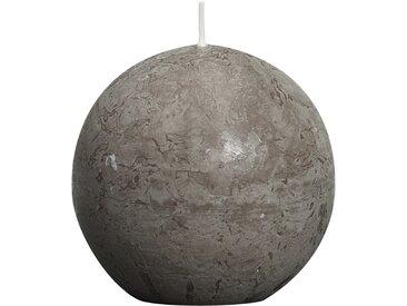 Bolsius Kugelkerze 'Rustik' taupe Ø 8 cm