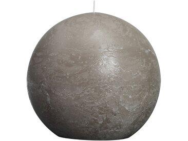 Bolsius Kugelkerze 'Rustik' taupe Ø 14,5 cm