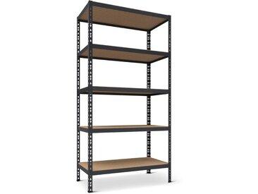 Schwerlastregal 92 x 180 x 46 cm anthrazit 5 Holzböden à 265 kg