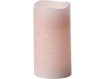 Schlaraffenland LED-Kerze 'Magna' rosa Ø 7,5 cm 14 cm