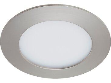 Briloner LED-Einbauleuchte 'Flat' matt-nickel 8 W