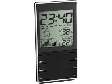 TFA Dostmann Elektronische Wetterstation Innen Kunststoff 14 cm schwarz