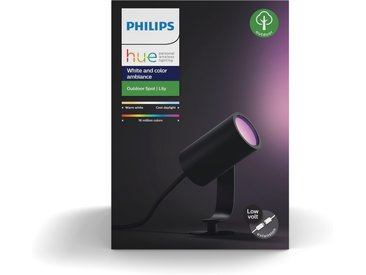 Philips Hue LED-Spot 'Hue White & Color Ambiance Lily' 1-flammig, Erweiterung, schwarz 640 lm