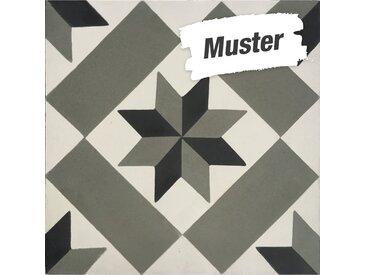 Muster zur  Bodenfliese 'Cement' mehrfarbig 20 x 20 cm