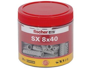 Fischer Dose mit Spreizdübeln 'SX' Ø 8 x 40 mm, 80 Stück
