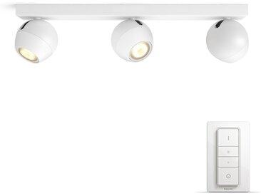 Philips Hue LED Spot Buckram 3-flammig 5047331P7, 750 lm, Weiß, inkl. Dimmschalter