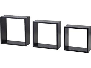 Dolle Wandregal-Set 'Shelf+ Frame' schwarz 300 x 300 x 117 mm